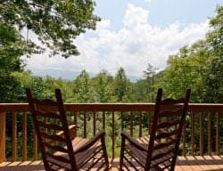 Private deck off Luxury Cabin in Gatlinburg.jpg