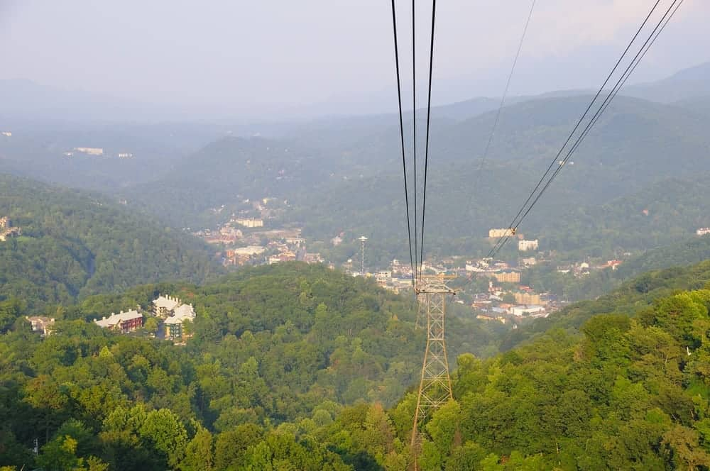 View from the Aerial Tramway in Gatlinburg