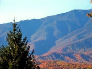 View of the Smoky Mountains from the Awesome Mountain View cabin in Gatlinburg