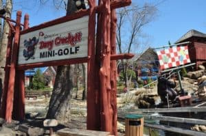 Ripley's Davy Crockett Mini Golf, one of the places you can visit when you stay at our Gatlinburg cabin rentals with free attraction tickets.