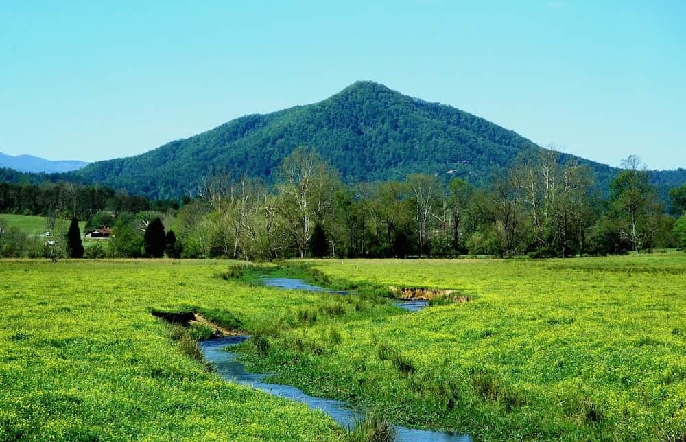 Picturesque scene near one of our Smoky Mountain getaway cabin rentals.
