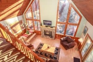 Ridge Haven living room area Gatlinburg 3 bedroom cabin rental