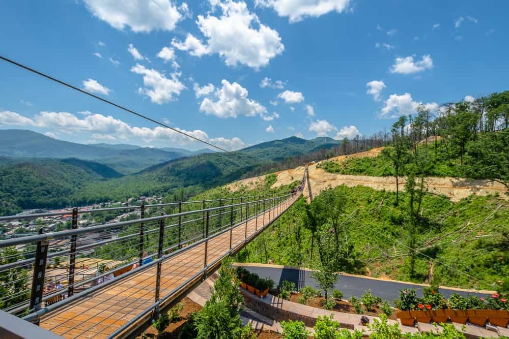 gatlinburg skybridge in the skypark