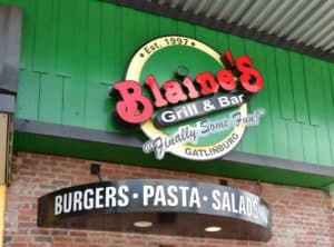 Blaine's Grill & Bar in Gatlinburg TN.