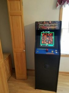 A multicade arcade machine in a Gatlinburg cabin rental.