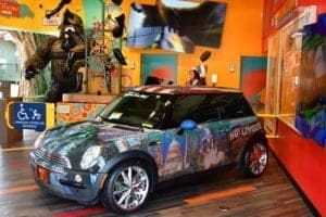 mini cooper at ripley's odditorium in gatlinburg